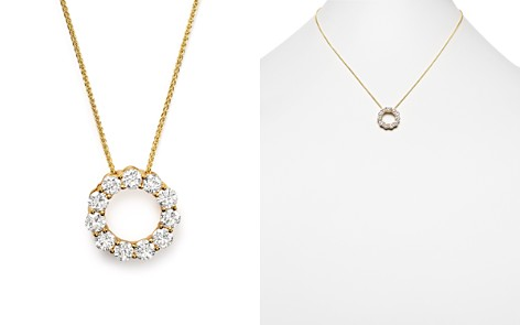 Diamond Circle Pendant Necklace in 14K Yellow Gold, 2.0 ct. t.w. - 100% Exclusive - Bloomingdale's_2
